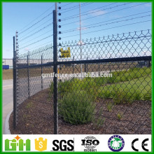 50x50mm factory price high qaulity sports ground pvc coated metal mesh chain link fence for sale