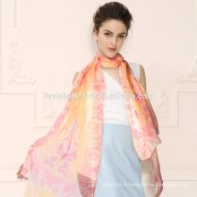 Noble Fashion Women's Long Wrap Écharpe en mousseline de soie Shawl en mousseline de soie