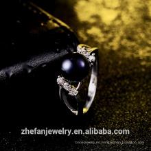 joyería de moda 2018 fabricante de joyas al por mayor anillo de perlas