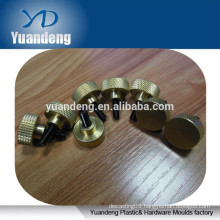 Brass knurled head screw