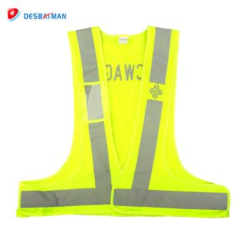 100% полиэстер трикотажные ткани унисекс высокая видимость безопасности светоотражающий жилет без карманов оптовая онлайн