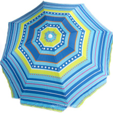 High quality oxford Fabricwith tassels and anchor drill beach umbrella for sea
