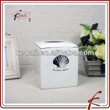 Caixa de tecido de cerâmica shell