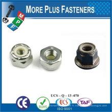 Fabriqué en Taiwan M5-0.8 DIN 985 Grade A4 en acier inoxydable Nylon Insert Lock Nut