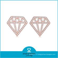 Véritables 925 styles de bijoux en argent boucles d'oreilles (E-0249)
