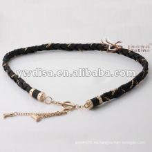 La cintura de las mujeres de la manera en PU trenzado con el mejor diseño de la borla de cadena de YIWU DISHA