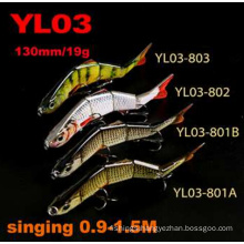 2016 New Arrival 130mm 19g Hard Plastic Swimbait