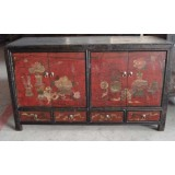 Antique Wood Furniture Mongolia Sideboard (LWC201)