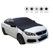 Outdoor Windproof Magnetic Half Car Cover Sunshade Protector Car Windshield Snow Ice Cover with Rear Mirror Covers