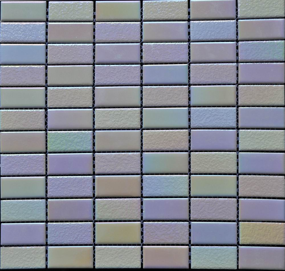 Pink Rectangle Chip Ceramic Mosaic