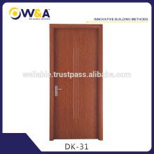 Porte d'intérieur en bois massif, portes de chambre Wpc d'hôtel