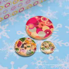 DIY screen printing decoration art and craft wood buttons