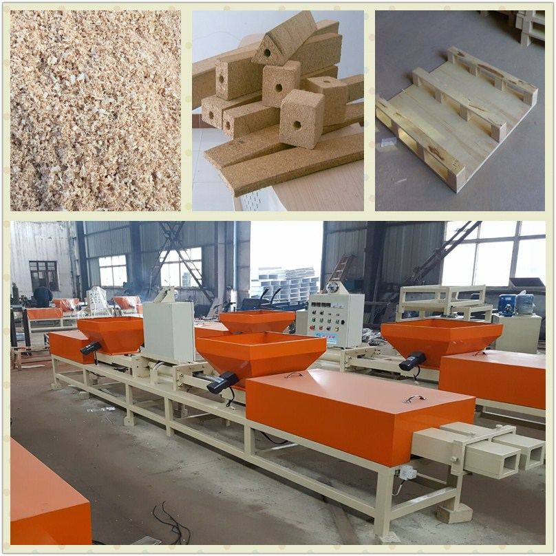 Wood shaving block processing machine