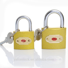 China Suppliers India market hot sale cheap immitate brass iron padlock