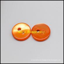 Botón de Shell río con esmalte Color