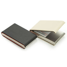 Double Sides Leather Name Card Case Holder