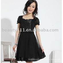 Falda corta hermosa de la gasa de la manga del nuevo estilo caliente 2011 de la mejor venta