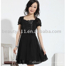2011 new hot style best sell beautiful short sleeve chiffon skirts