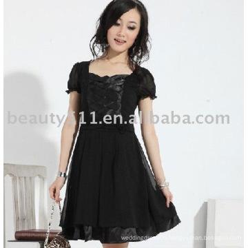2011 new hot style best sell beautiful short sleeve chiffon skirts