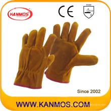 Vaca Split controladores de seguridad industrial guantes de trabajo de cuero (11202)