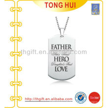 Father Hero Love dog tag necklace distributor imitation jewelry