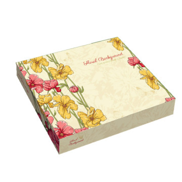 Custom clothing shopping gift packaging box with ribbon