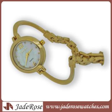 Charm Quartz Stainless Steel Lady Watch