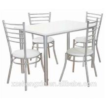 Conjuntos de mesa de jantar de metal 1 + 4 para venda