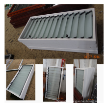 Cheap price foshan manufacturer frosted glass louver window