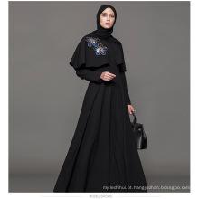 Meia mangas kaftan fabricante mulheres indiano kimono i Vestuário islâmico personalizado dubai muçulmano mulheres abaya fotos abertas