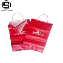 Bolsas de compras promocionales del logotipo de la mano dura plástica del lazo