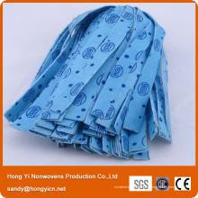 Tête de vadrouille en tissu non tissé perforé à l'aiguille multicolore