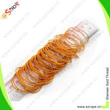 1mm orange elastic polyester bungee hair loops