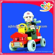 Plastic Mini Fire Fighting Car/Building Blocks Toys