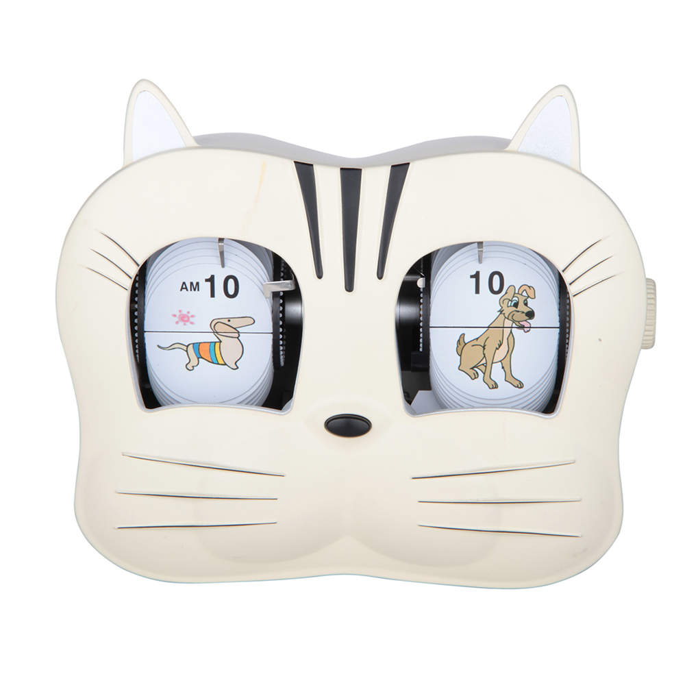 Lovely Cathead-shape Flip Clock