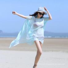 Los mantones de la bufanda de la protección solar de la moda de la venta caliente imprimieron las toallas de playa en blanco