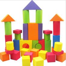 colourful Building EVA Foam Block with printing