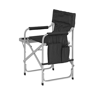 Chaise pliante de direction en aluminium avec porte-gobelets
