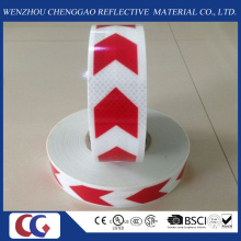 Red and White Arrow PVC Reflective Tape with Crystal Lattice