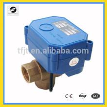 Válvula de bola eléctrica del control del agua de CWX-15N / Q para el drenaje auto y el sistema de enfriamiento de agua, elaboración de la cerveza eléctrica