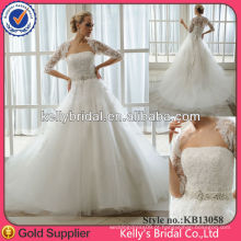 Vestido de noiva de sereia de renda elegante e elegante único 2013