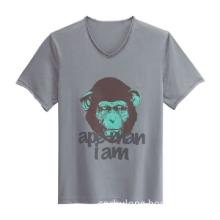 100% Cottom round-neck printed men\'s short sleeve T-shirt .