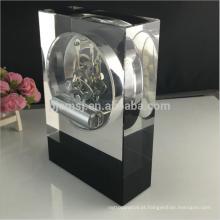 2017 novo design de vidro cristal digital oração relógio de mesa