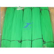 Alambre de corte recto revestido del PVC de la venta caliente