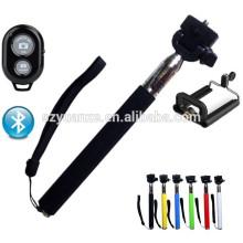 Монопик моноблока с кнопкой затвора bluetooth, кабель для зарядки полюса selfie stick, selfie stick bluetooth