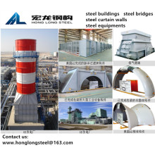 Steel Structures Inlet plenum for Power Station Equipment