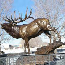Cera perdió el ornamento de jardín de la estatua de los ciervos del tamaño natural de la fundición para la venta inmediata