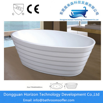 Luxury oval-shaped acrylic bathtub