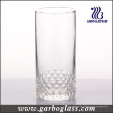 Copa de vidrio de 325 ml con fondo grabado