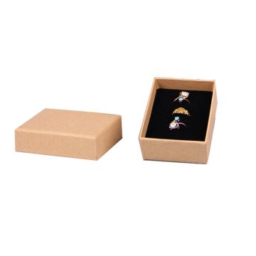 Kertas Brown Custom Pendant Box Packaging